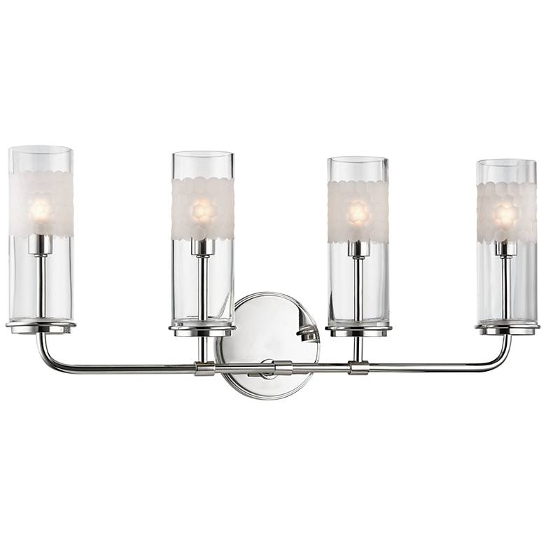 """Wentworth 10 1/4"""" High Polished Nickel 4-Light Wall Sconce"""