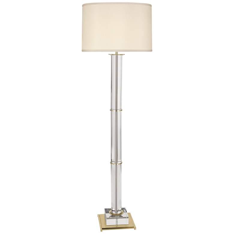 Finnie Modern Brass and Clear Crystal Floor Lamp