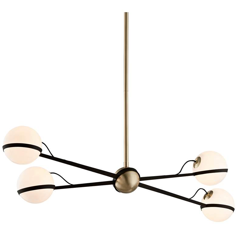 """Ace 49 1/2"""" W Bronze and Brushed Brass Pendant Light"""