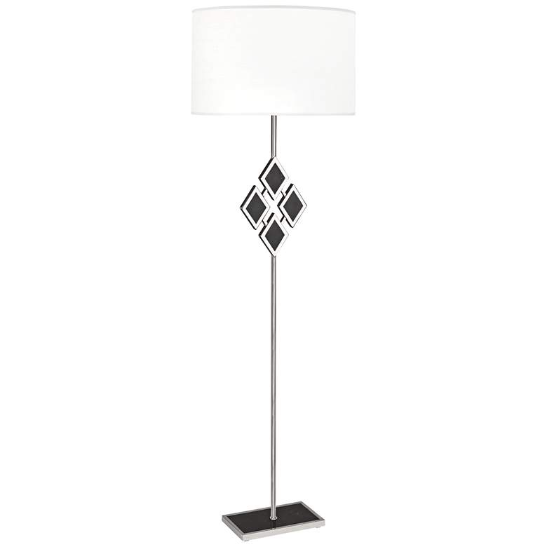 "Edward 62""H Nickel and Black Marble White Shade"