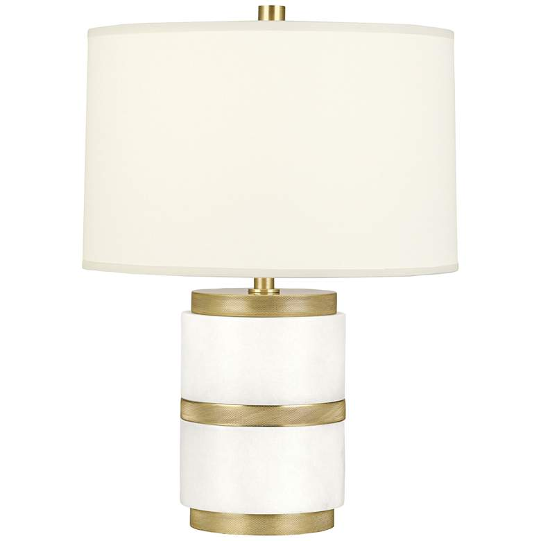 Robert Abbey Wyatt Modern Brass with White Shade Accent Lamp