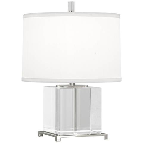 Finnie Polished Nickel and Clear Crystal Accent Lamp