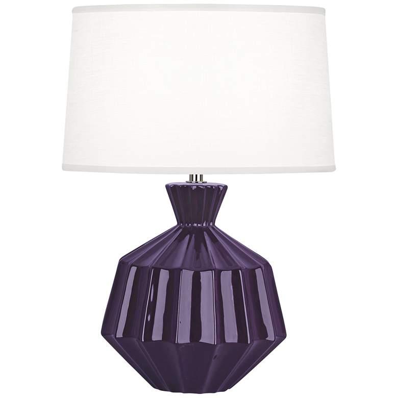 "Robert Abbey Orion 17 3/4""H Amethyst Purple Ceramic"
