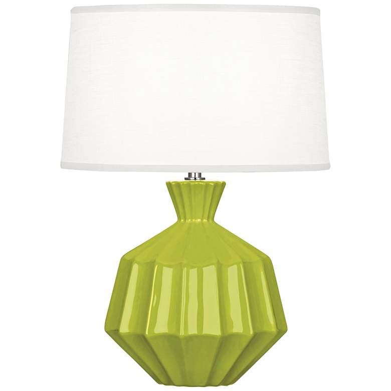 """Robert Abbey Orion 17 3/4""""H Apple Green Ceramic Accent Lamp"""