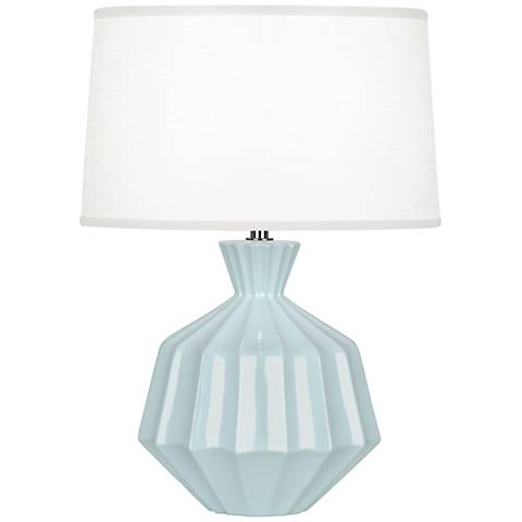 "Robert Abbey Orion 17 3/4""H Baby Blue Ceramic Accent Lamp"