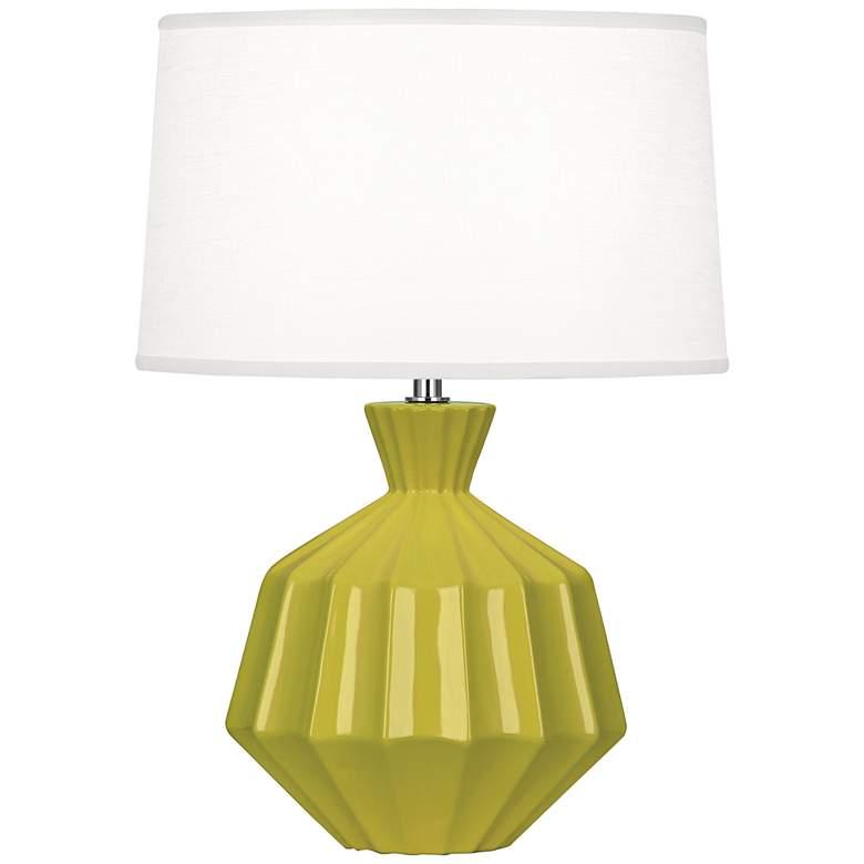 "Robert Abbey Orion 17 3/4""H Citron Ceramic Accent Lamp"