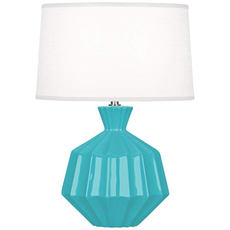 "Robert Abbey Orion 17 3/4""H Egg Blue Ceramic Accent Lamp"