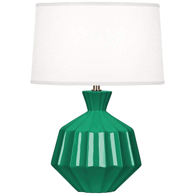 "Robert Abbey Orion 17 3/4"" Emerald Green Ceramic"