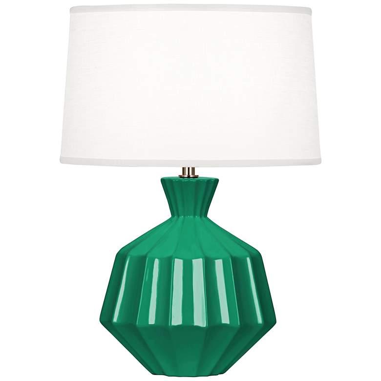 "Robert Abbey Orion 17 3/4"" Emerald Green Ceramic Accent Lamp"