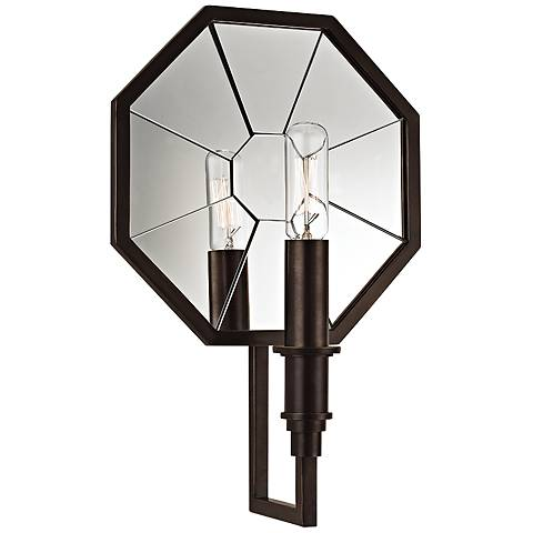 """Hudson Valley Cushing 11 3/4"""" High Old Bronze Wall Sconce"""