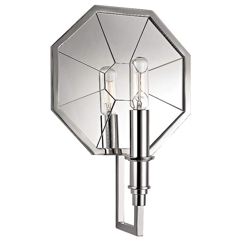 """Hudson Valley Cushing 11 3/4""""H Polished Nickel Wall Sconce"""