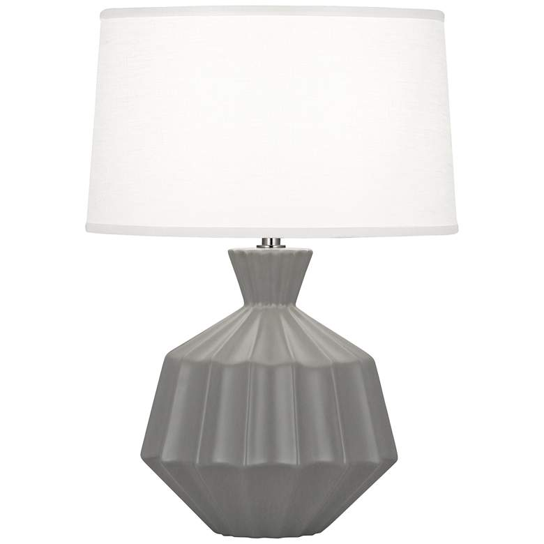 """Robert Abbey Orion 17 3/4"""" Matte Gray Accent Table Lamp"""