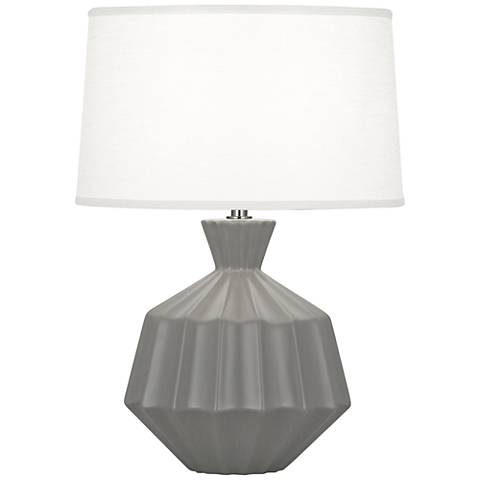 Robert Abbey Orion Matte Smoky Taupe Ceramic Accent Lamp
