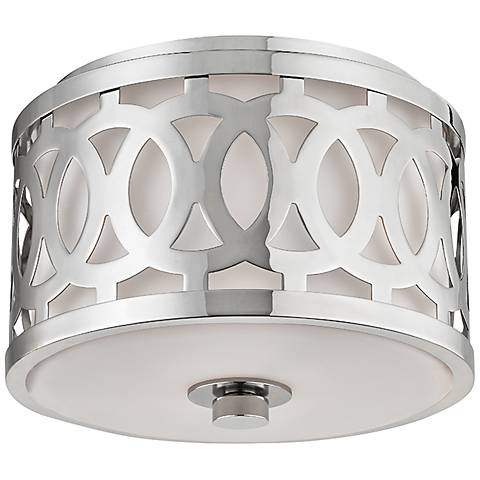 "Hudson Valley Genesee 10"" Wide Polished Nickel Ceiling Light"