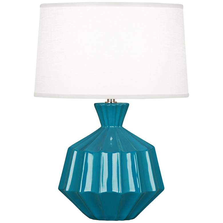 """Robert Abbey Orion 17 3/4""""H Peacock Ceramic Accent Lamp"""