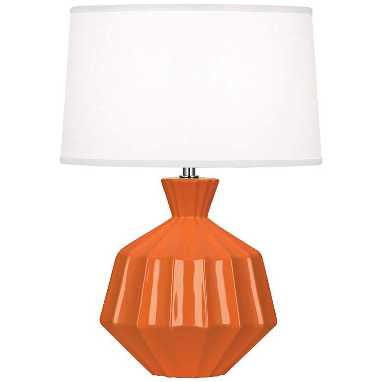 "Robert Abbey Orion 17 3/4""H Pumpkin Ceramic Accent Lamp"
