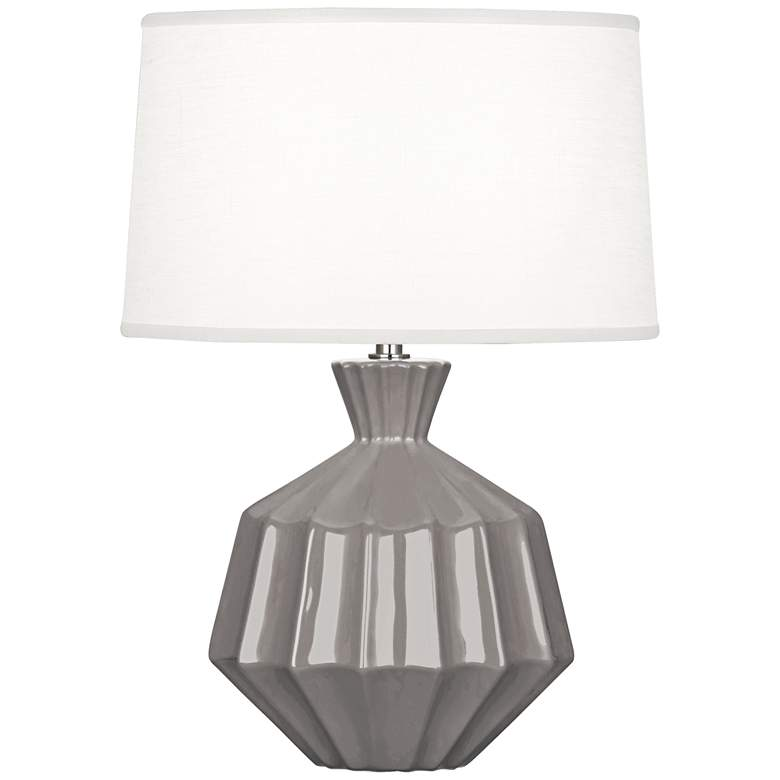 """Robert Abbey Orion 17 3/4""""H Smokey Taupe Ceramic Accent Lamp"""
