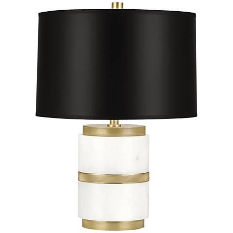 Robert Abbey Wyatt Modern Brass with Black Shade Accent Lamp