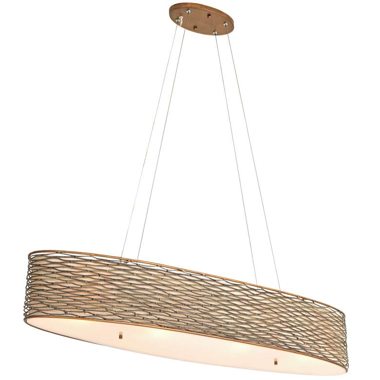"Varaluz Flow 36""W Hammered Ore Kitchen Island Light Pendant"