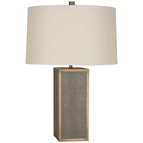 Robert Abbey Anna Faux Snakeskin Brass Rectangle Table Lamp