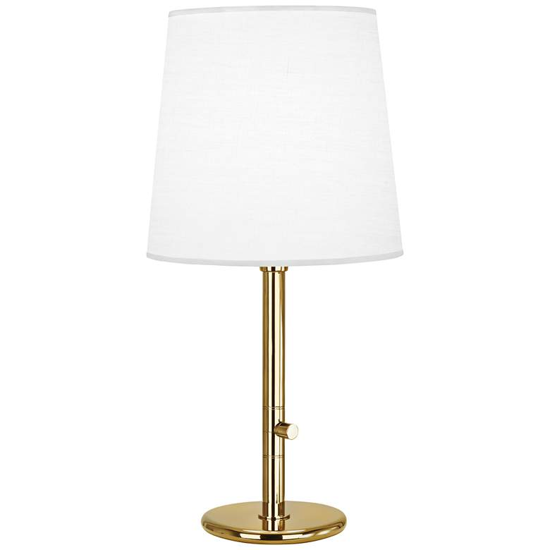 Robert Abbey Buster Chica Ascot Shade Brass Table