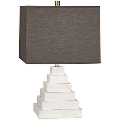 Jonathan Adler Canaan Smoke Shade Marble Tapered Table Lamp