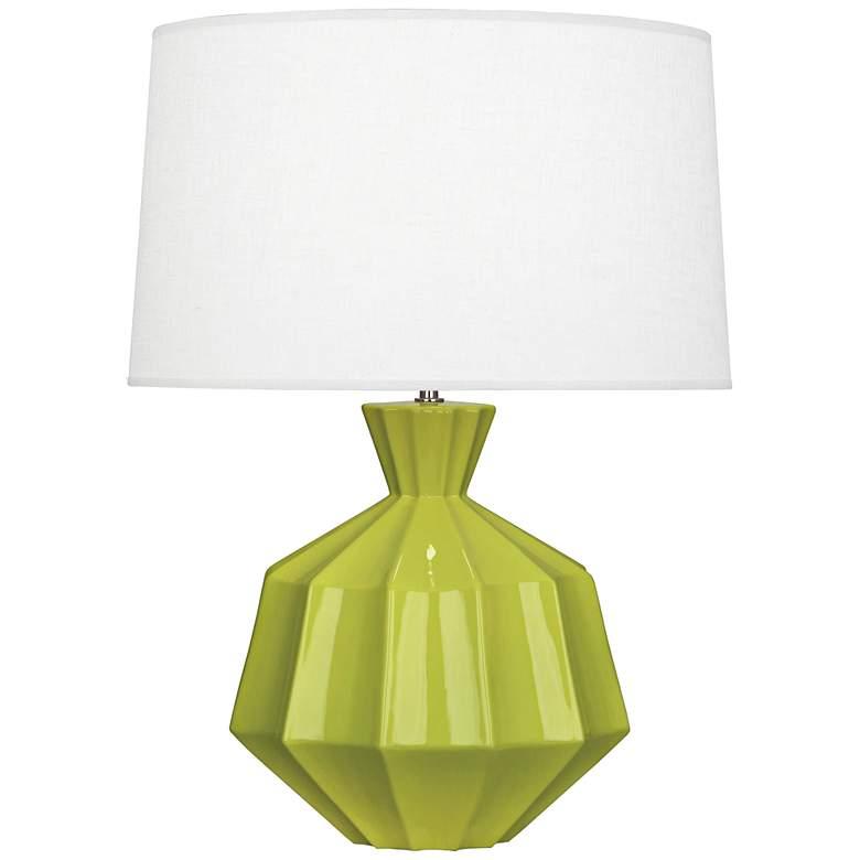 "Robert Abbey Orion 27"" Apple Green Ceramic Table Lamp"