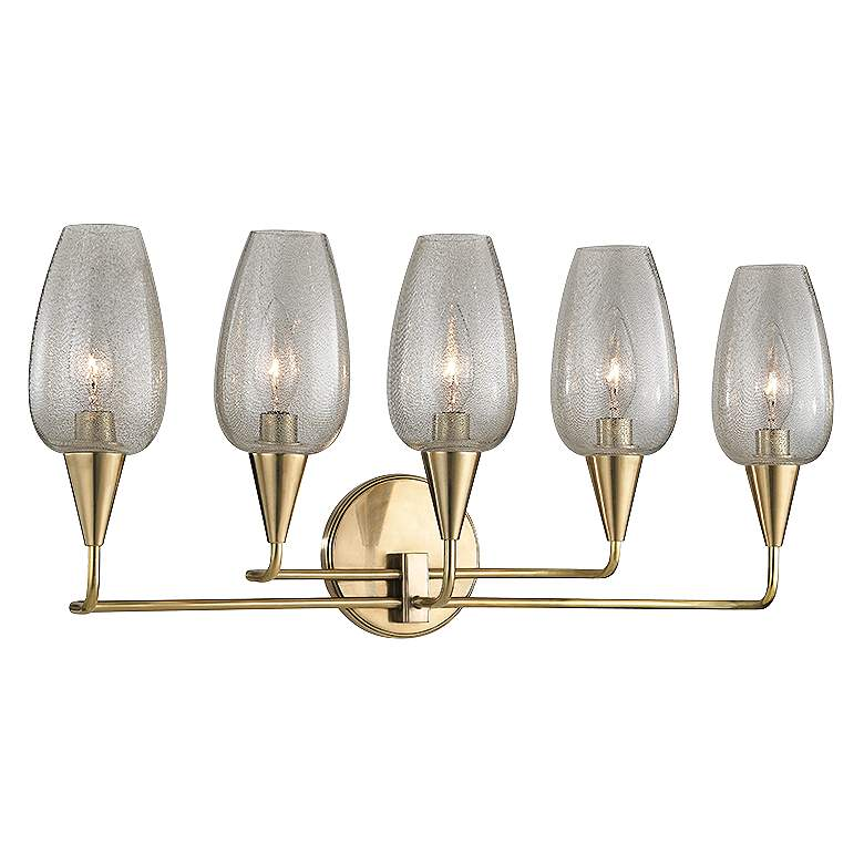 "Hudson Valley Longmont 11"" High Aged Brass Wall Sconce"