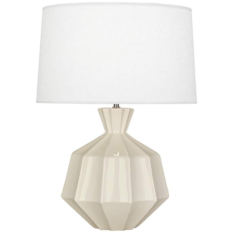 "Robert Abbey Orion 27"" Bone White Ceramic Table Lamp"