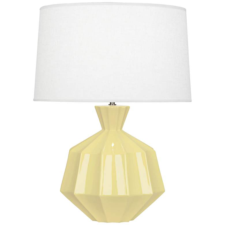 "Robert Abbey Orion 27"" Butter Yellow Ceramic Table Lamp"