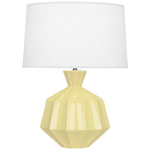 Robert Abbey Orion Butter Yellow Ceramic Table Lamp