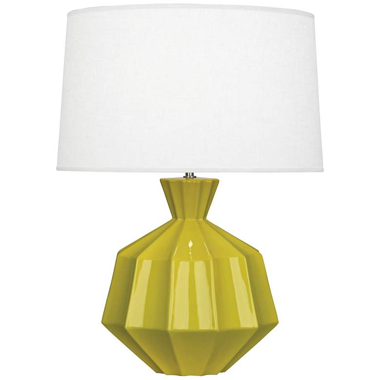 "Robert Abbey Orion 27"" Citron Ceramic Table Lamp"