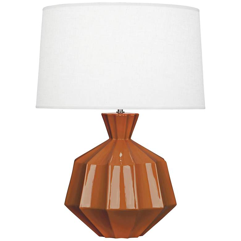 "Robert Abbey Orion 27"" Cinnamon Brown Ceramic Table Lamp"