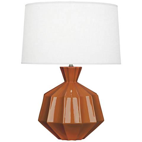 Robert Abbey Orion Cinnamon Brown Ceramic Table Lamp