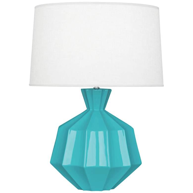 """Robert Abbey Orion 27"""" Egg Blue Ceramic Table Lamp"""