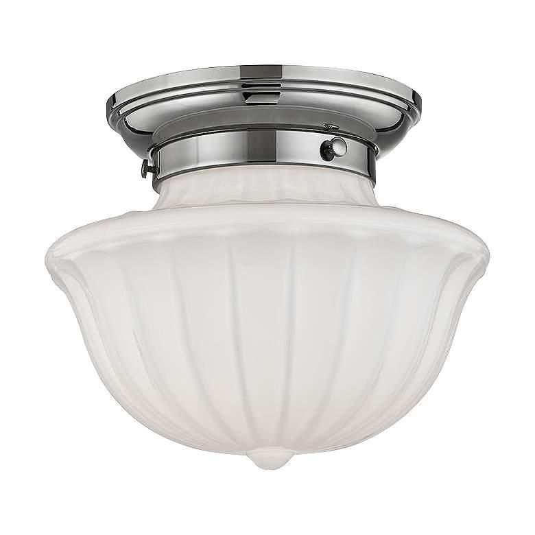 "Hudson Valley Dutchess 9"" Wide Polished Nickel Ceiling Light"