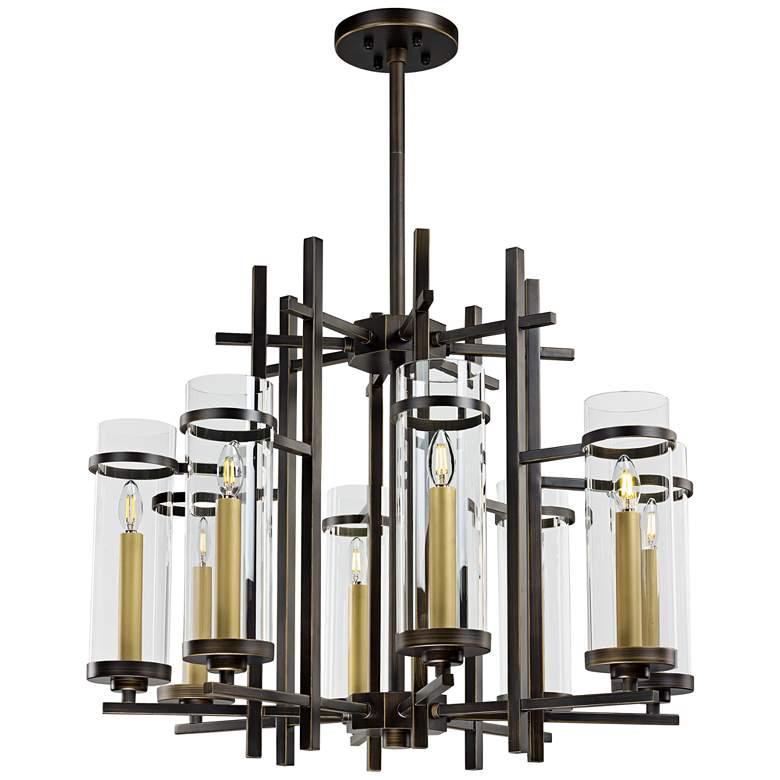 "Maxim Midtown 33 1/2"" Wide Gold Bronze LED Pendant Light"