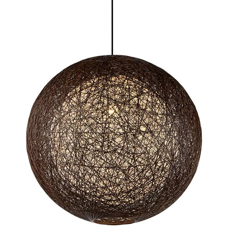 "Maxim Bali 24"" Wide Chocolate Weave Outdoor Pendant Light"
