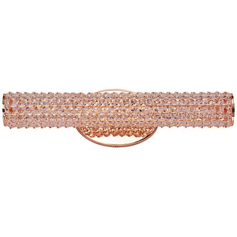 "Maxim Meteor 20 1/2"" Wide Rose Gold LED Bath Light"