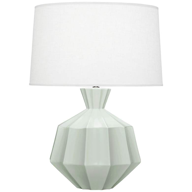 "Robert Abbey Orion 27"" Matte Celadon Blue Ceramic Table Lamp"