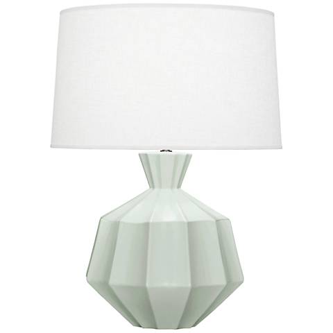 Robert Abbey Orion Matte Celadon Blue Ceramic Table Lamp