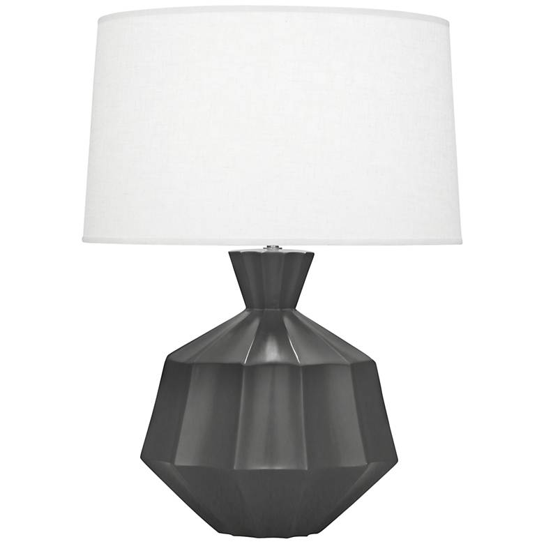 Robert Abbey Orion Matte Ash Black Ceramic Table Lamp