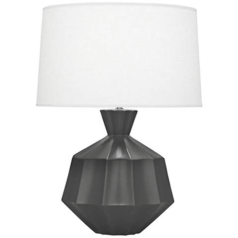 Robert abbey orion matte ash black ceramic table lamp 9r916 robert abbey orion matte ash black ceramic table lamp mozeypictures Images