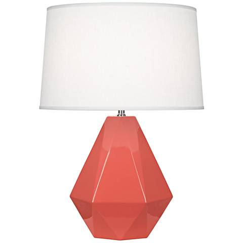 Robert Abbey Delta Melon Ceramic Table Lamp
