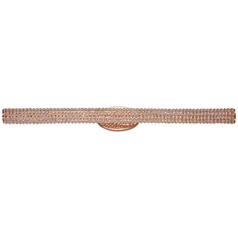 "Maxim Meteor 47"" Wide Rose Gold LED Bath Light"