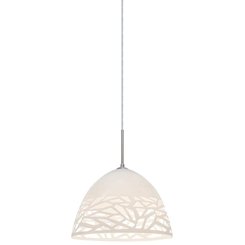 "Besa Kiev 12 1/2"" Wide Contemporary White Pendant Light"