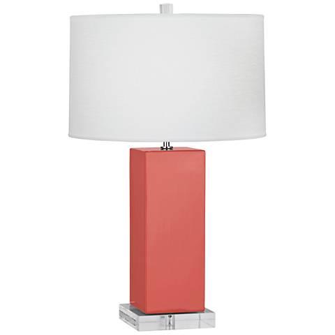 Robert Abbey Harvey Melon Ceramic Table Lamp