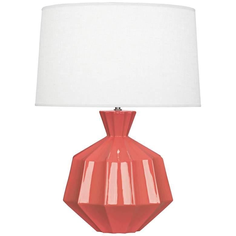 "Robert Abbey Orion 27"" Melon Ceramic Table Lamp"
