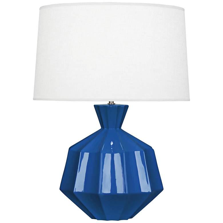 "Robert Abbey Orion 27"" Marine Blue Ceramic Table Lamp"