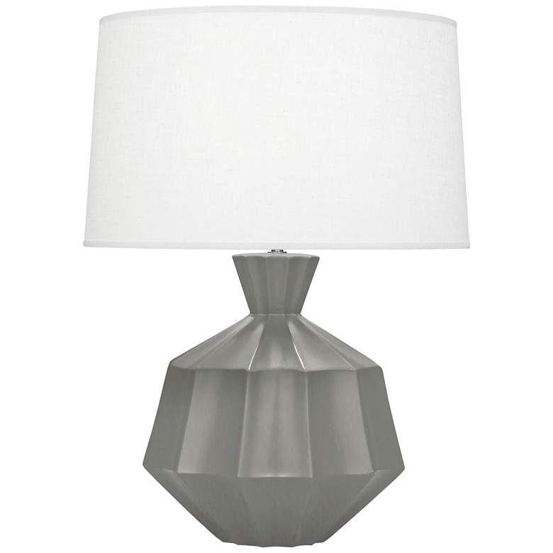 """Robert Abbey Orion 27"""" Matte Gray Taupe Ceramic Table Lamp"""